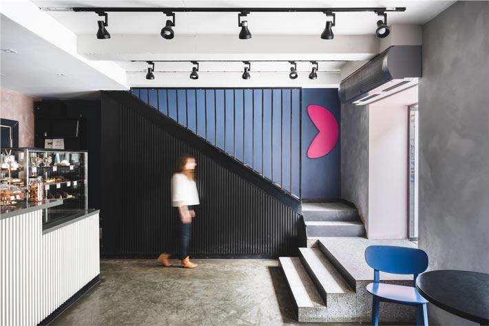 130平方早餐咖啡店入口装修设计效果图