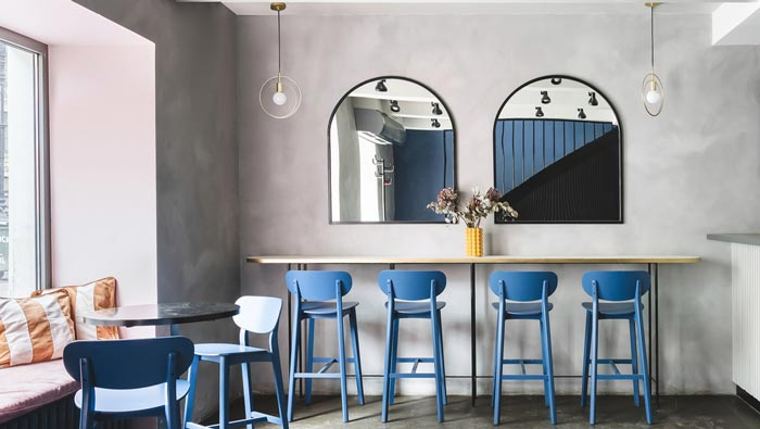 130平方早餐咖啡店吧台装修设计效果图