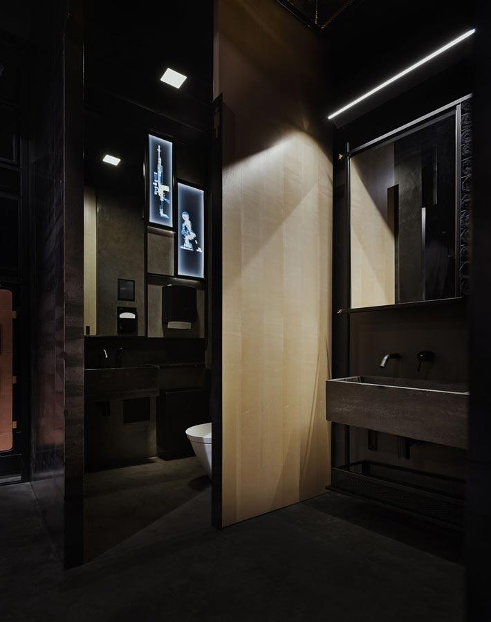 06330平方烤肉餐厅洗手间装修设计效果图