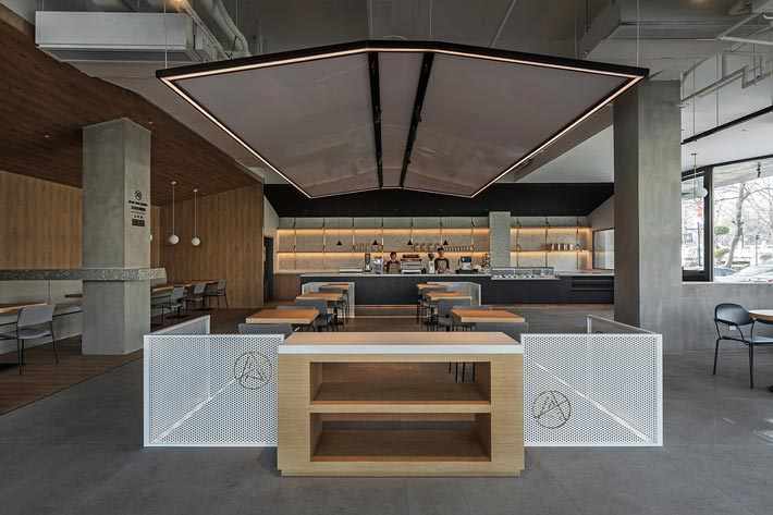 270平方咖啡厅咖啡区装修设计效果图