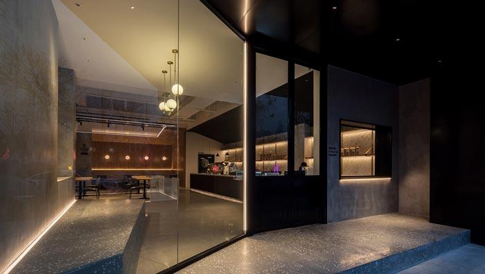 270平方咖啡厅入口装修设计效果图