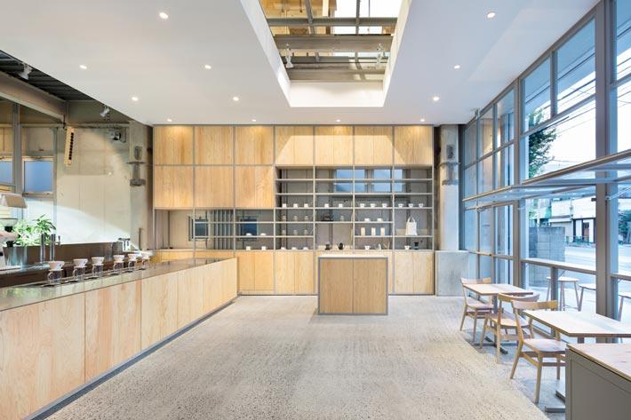 钢结构咖啡厅入口装修设计效果图