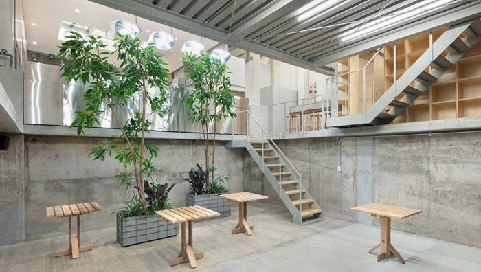 钢结构咖啡厅楼梯装修设计效果图