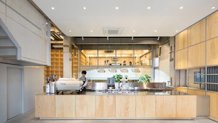 钢结构咖啡厅吧区装修设计效果图