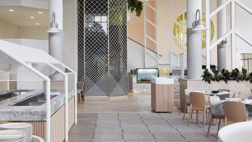 度假村自助餐厅设计【1000平方】