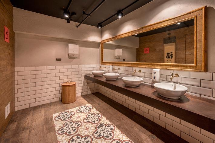 品牌中餐厅洗手间装修设计效果图