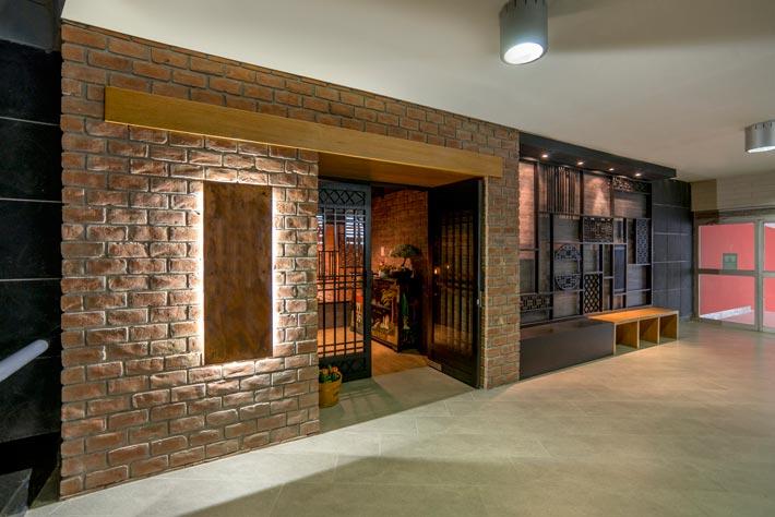 品牌中餐厅入口装修设计效果图