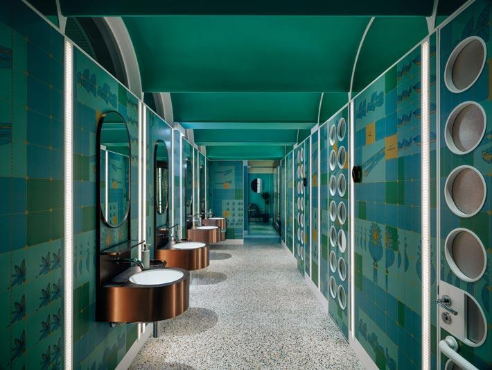 新派中餐厅洗手台装修设计效果图