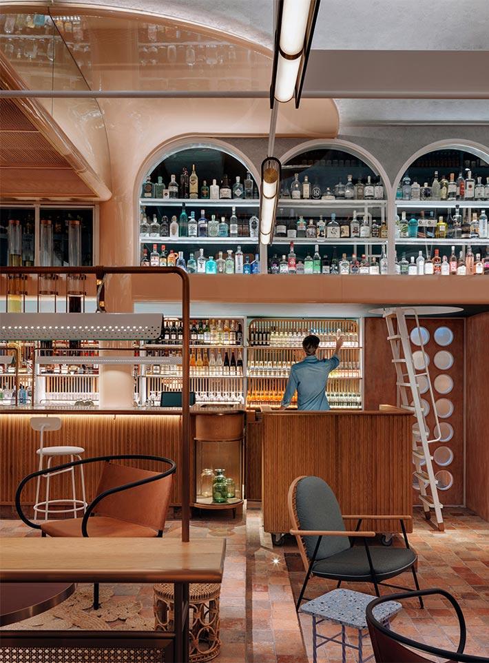 新派中餐厅吧台装修设计效果图