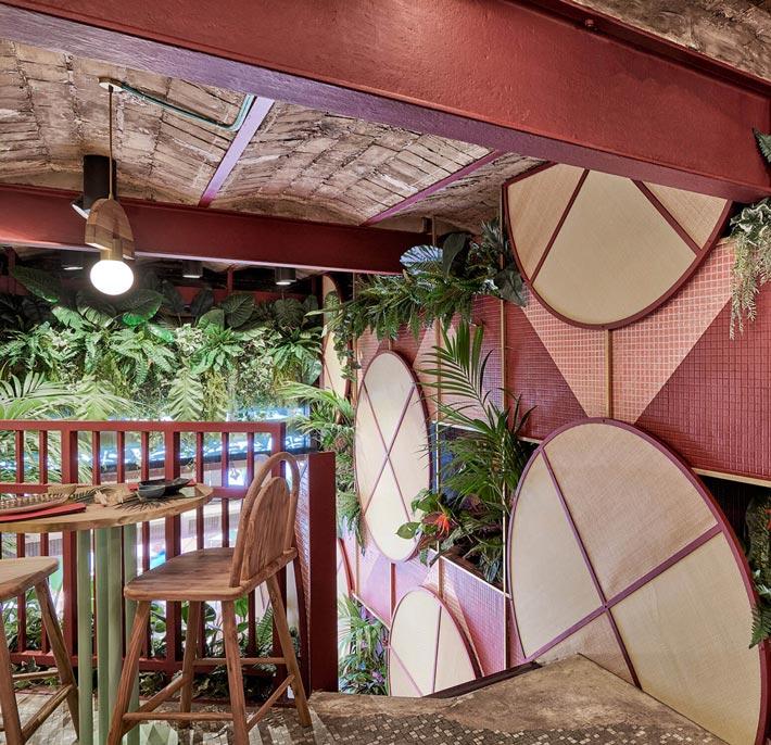 日式餐厅二楼装修设计效果图