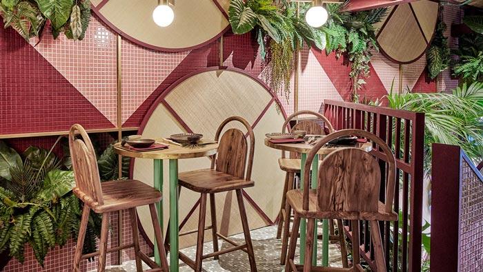 日式餐厅吧区装修设计效果图