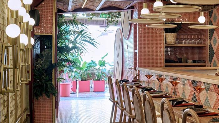 日式餐厅入口装修设计效果图