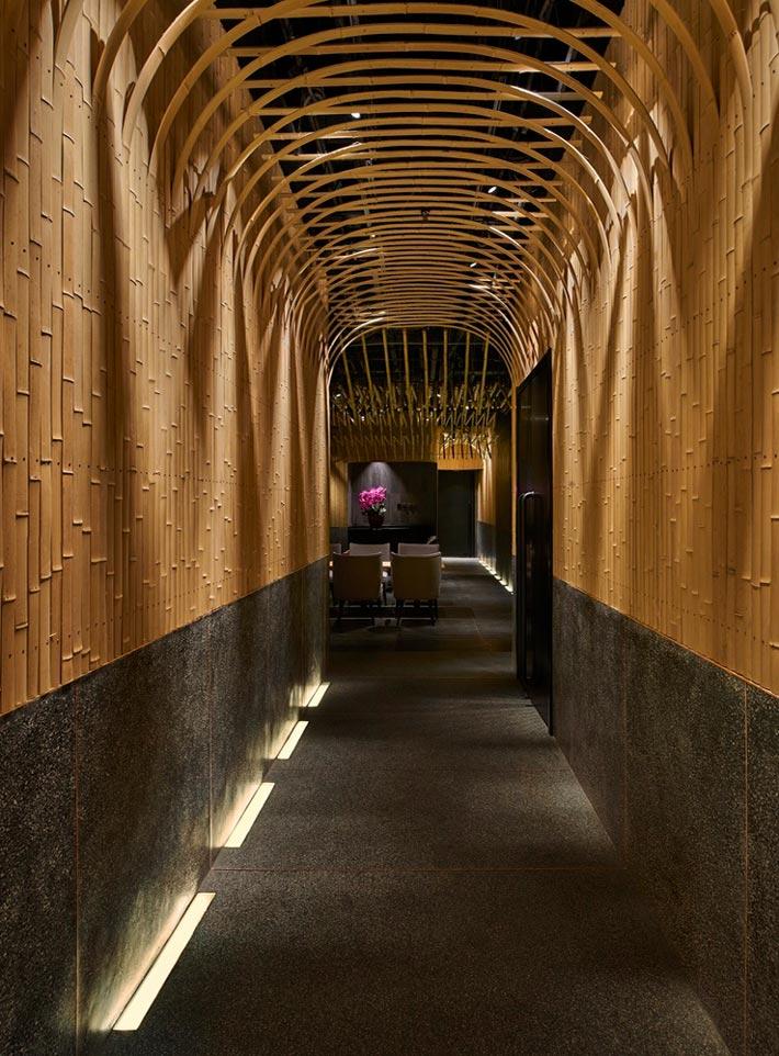 日料餐厅过道装修设计效果图