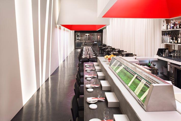 寿司餐厅吧区装修设计效果图