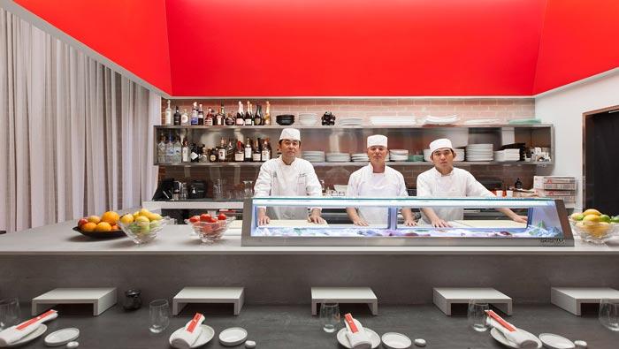 寿司餐厅厨房装修设计效果图