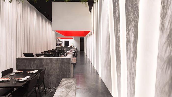 寿司餐厅入口装修设计效果图