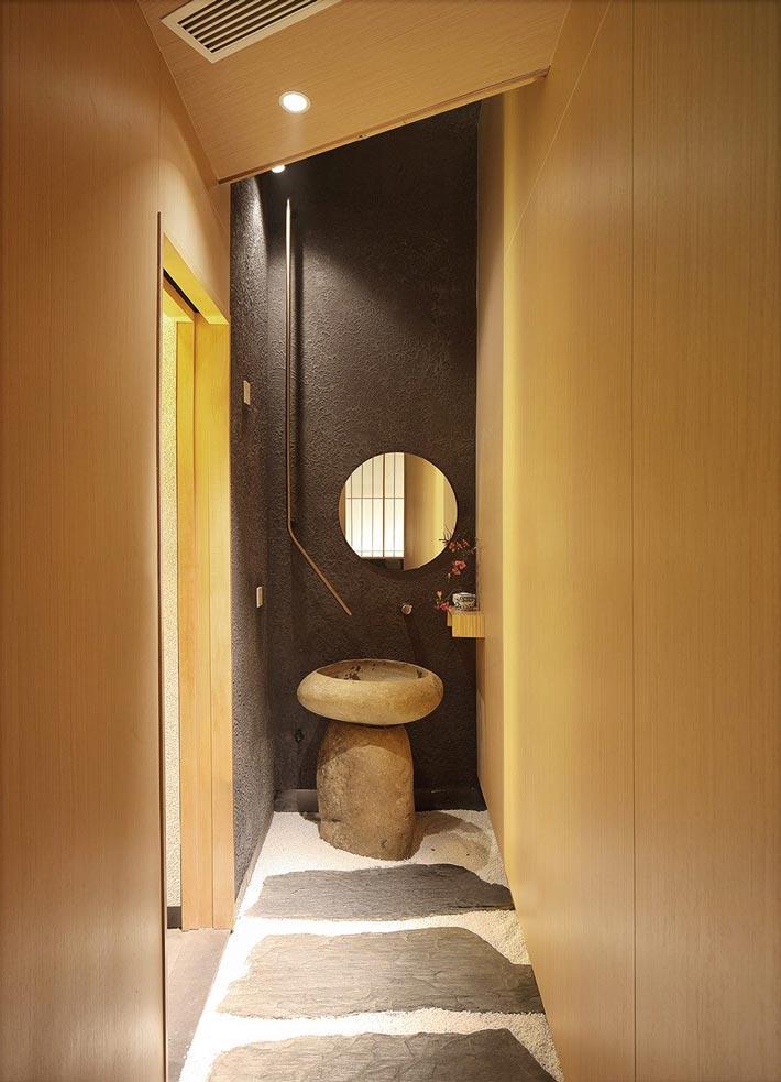 寿司料理店洗手池装修设计效果图