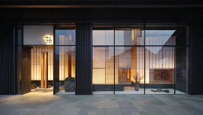 寿司料理店入口装修设计效果图