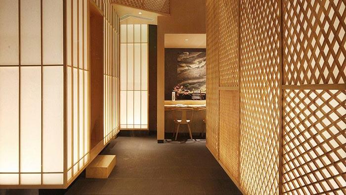 寿司料理店过道装修设计效果图