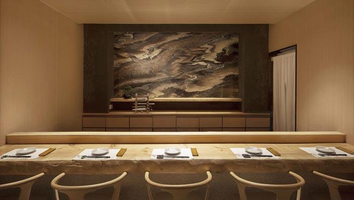 寿司料理店餐区装修设计效果图