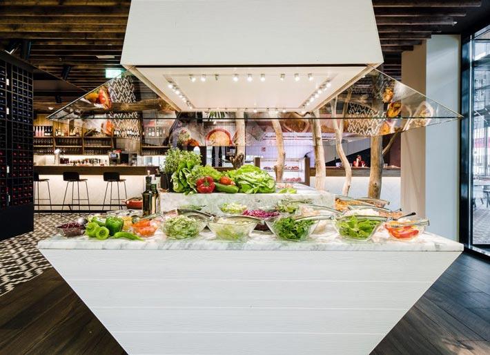 牛排店沙拉装修设计效果图