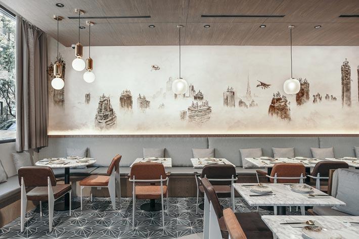 校区饭店餐区装修设计效果图