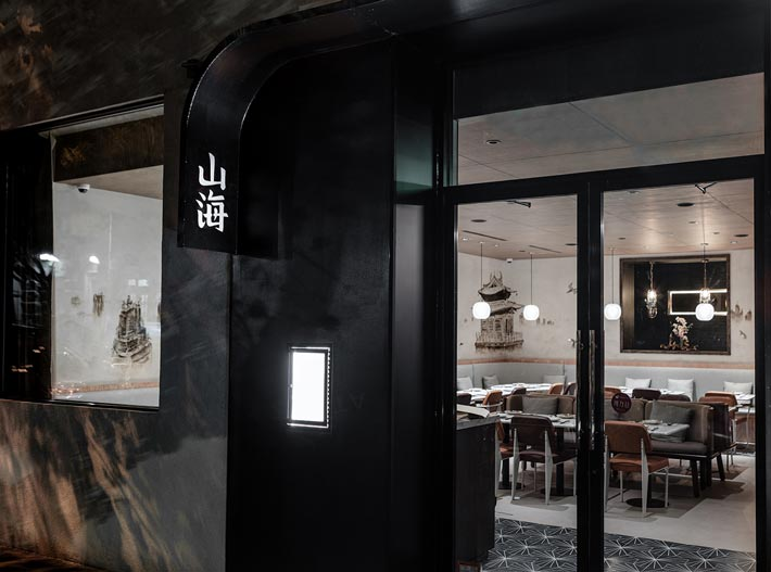 校区饭店入口装修设计效果图