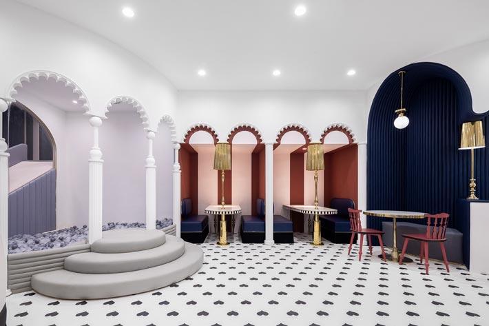 综合体亲子餐厅玩耍区装修设计效果图