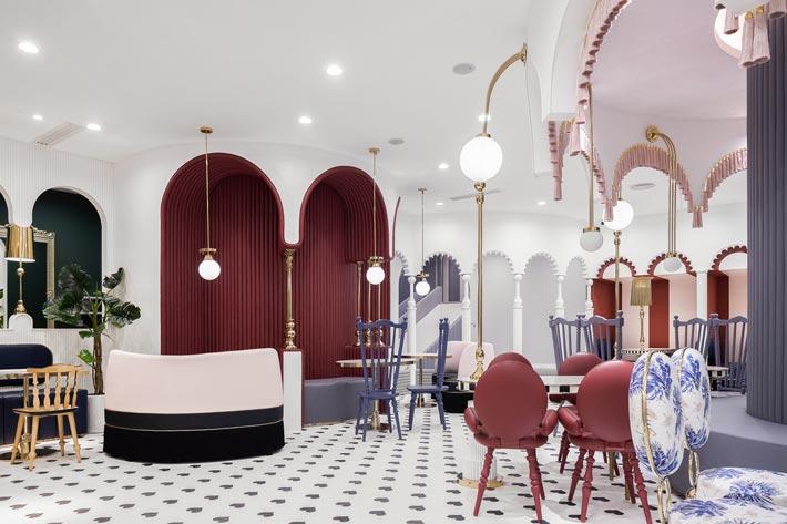 综合体亲子餐厅接待装修设计效果图