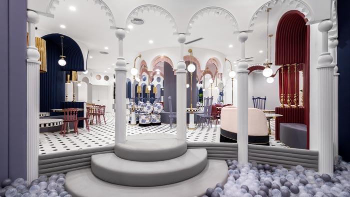 综合体亲子餐厅餐区装修设计效果图