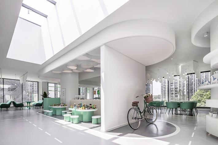 亲子餐厅设计动线装修效果图