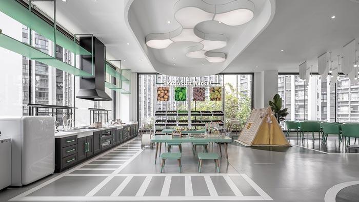 亲子餐厅厨房设计装修效果图