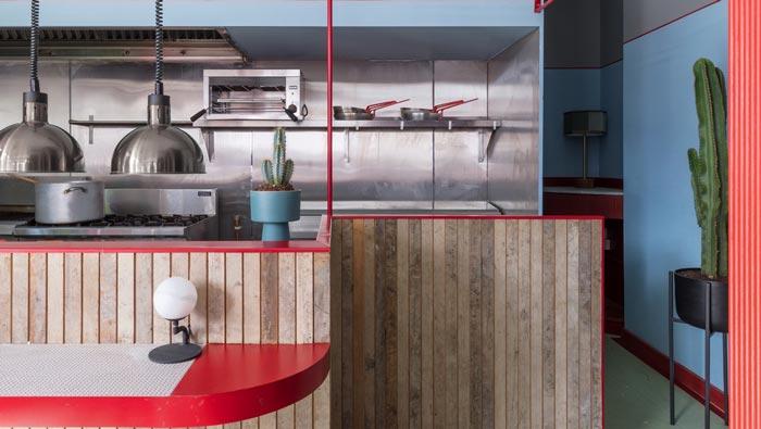 景区酒吧餐厅厨房装修设计效果图