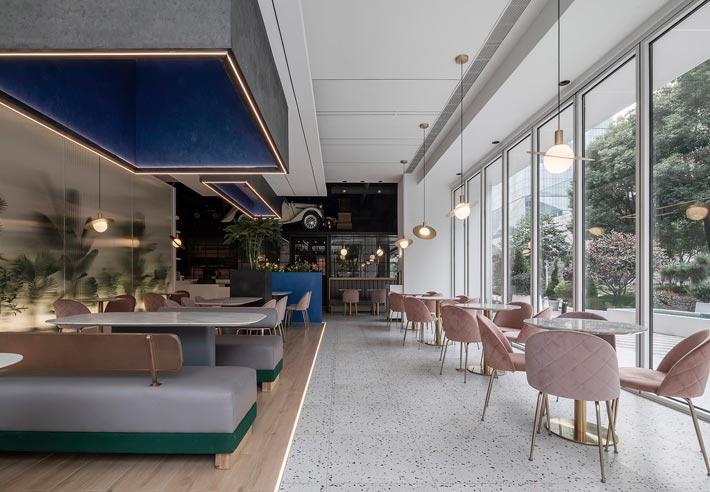 商场酒吧餐厅餐区装修设计效果图