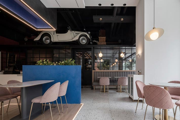 商场酒吧餐厅前台装修设计效果图