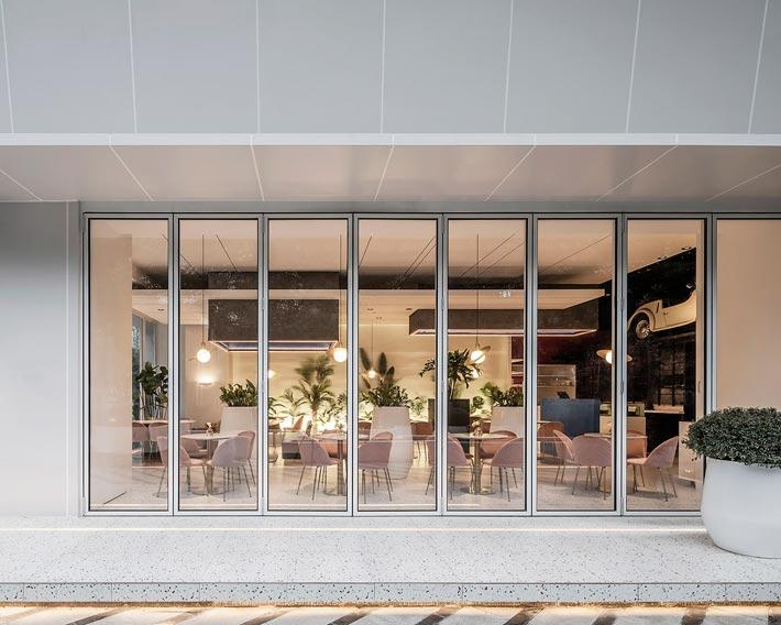 商场酒吧餐厅入口装修设计效果图