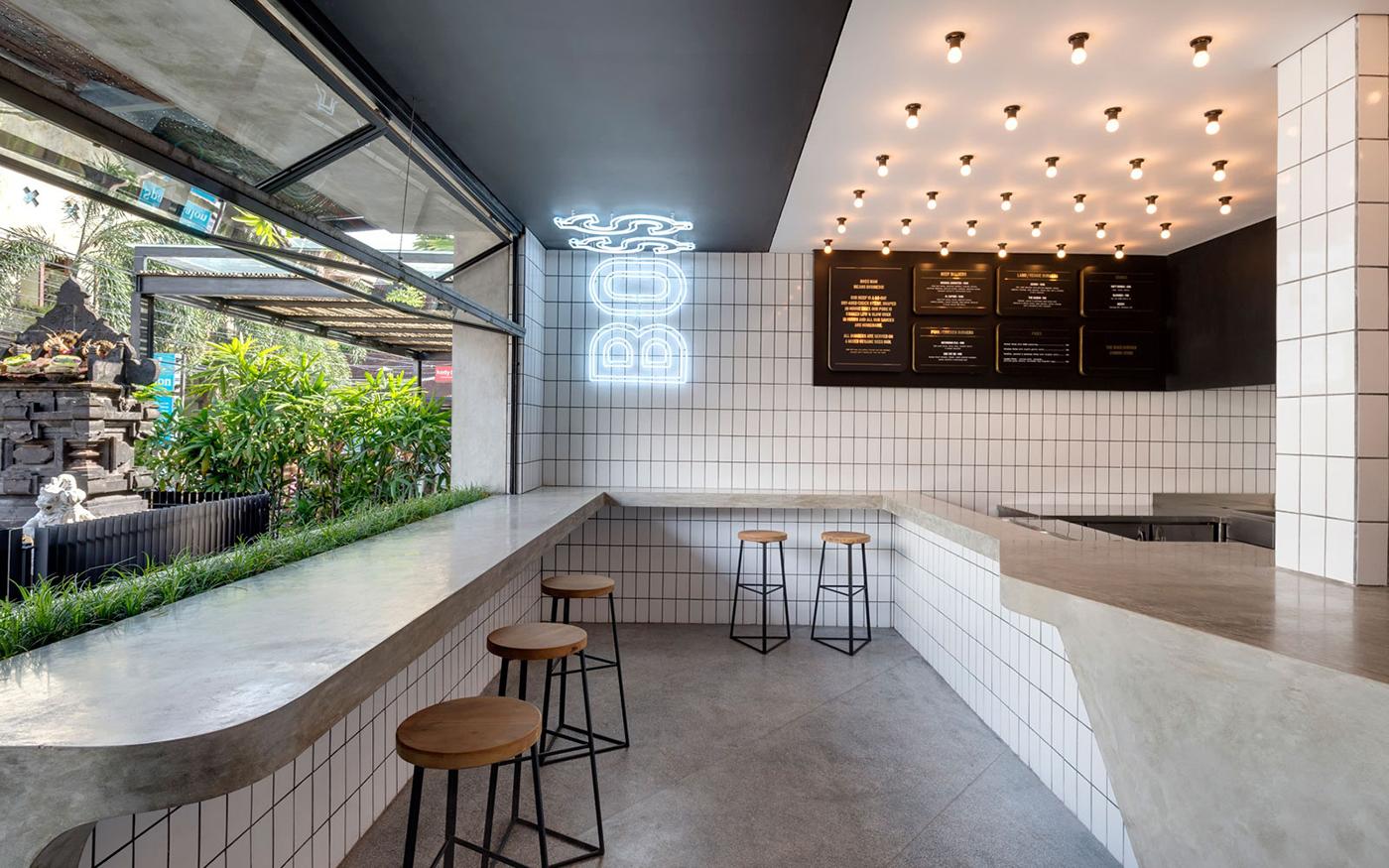 汉堡快餐餐厅设计【25平】